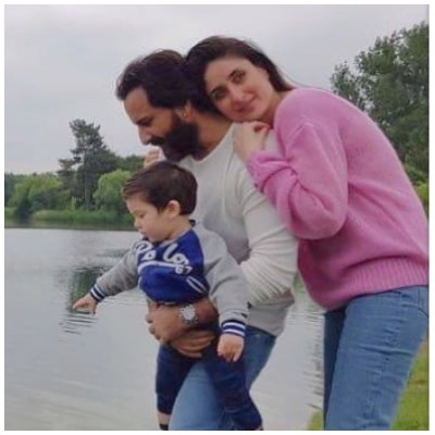 Taimur Ali Khan with parents