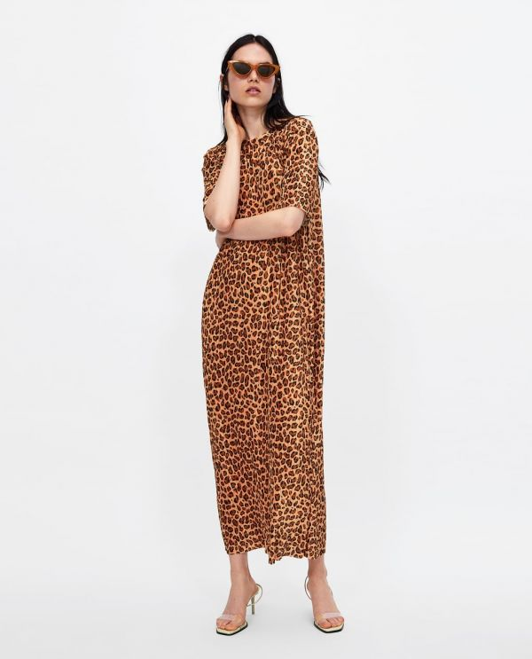 18 printed dress zara online sale under 1590