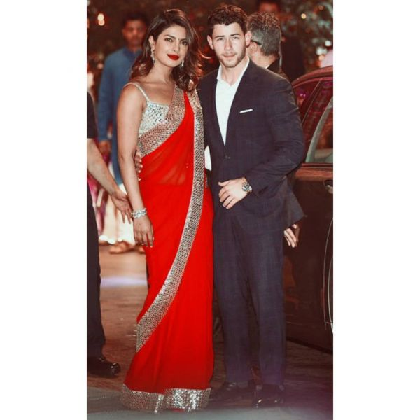 Priyanka chopra and nick jonas at ambani's pre-engagement bash