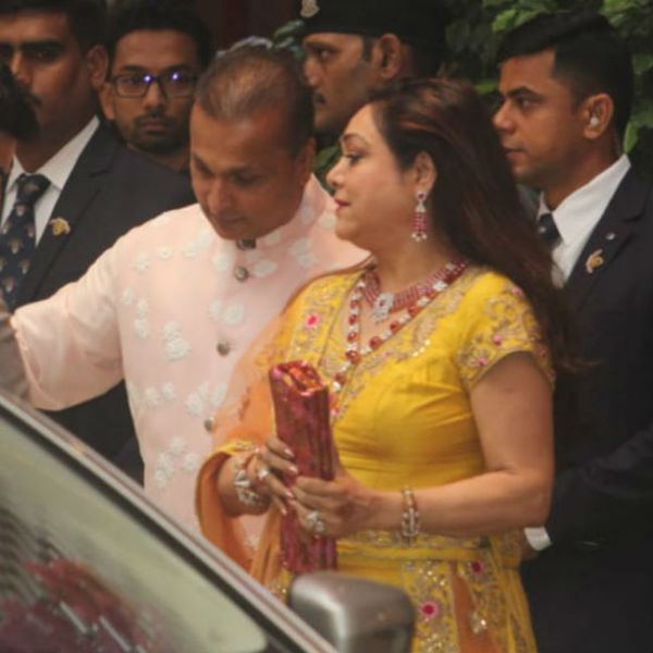 anil and tina ambani at ambani's pre-engagement bash