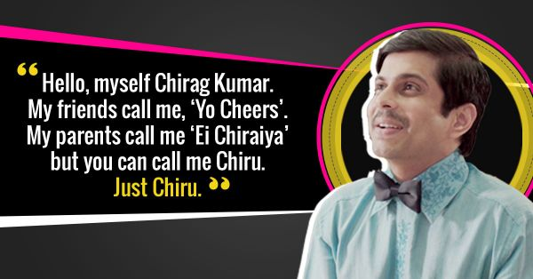funny dialogues by chirag from unmarried inside