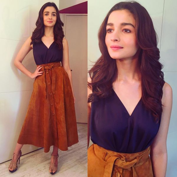 2 bollywood chocolate - alia bhatt brown skirt