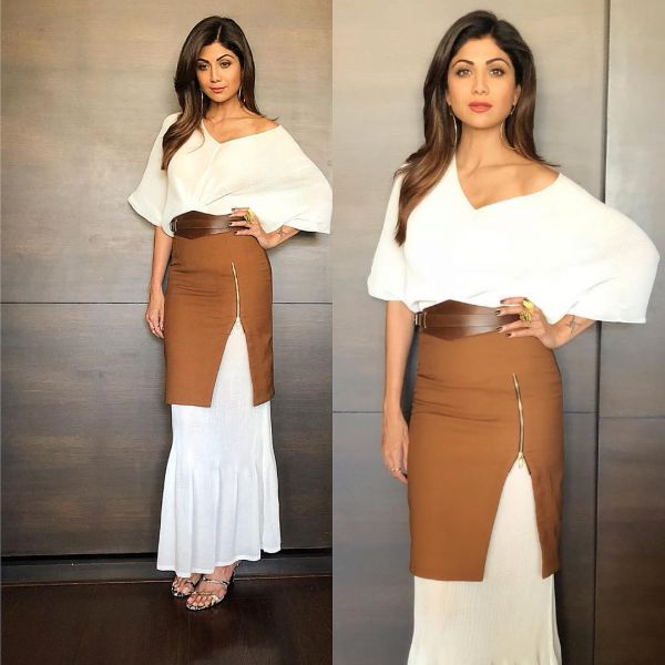 4 bollywood chocolate - shipa shetty skirt over dress