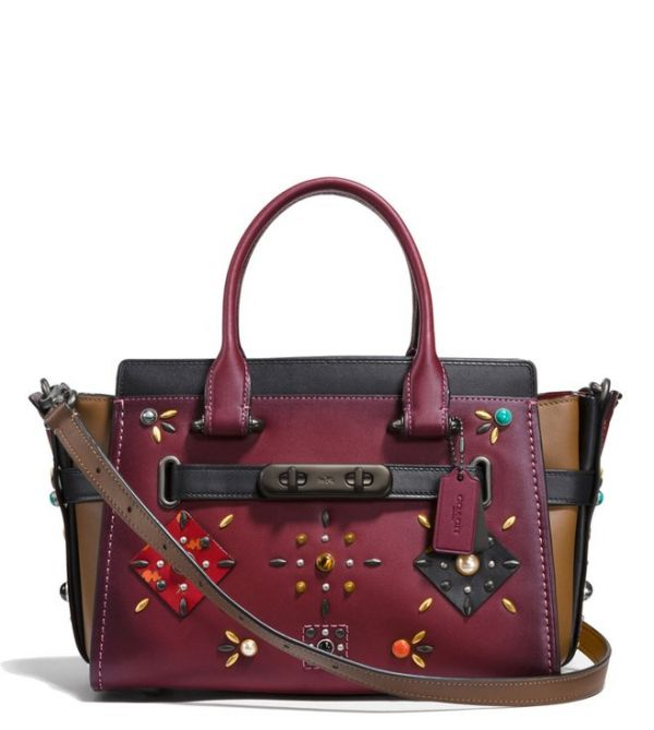 8 bags - COACH WINE SWAGGER 27 SATCHEL