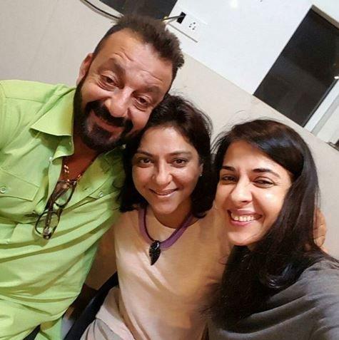 Sanju with sisters