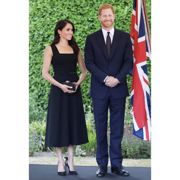 7 meghan markle garden party black dress megan princess diana