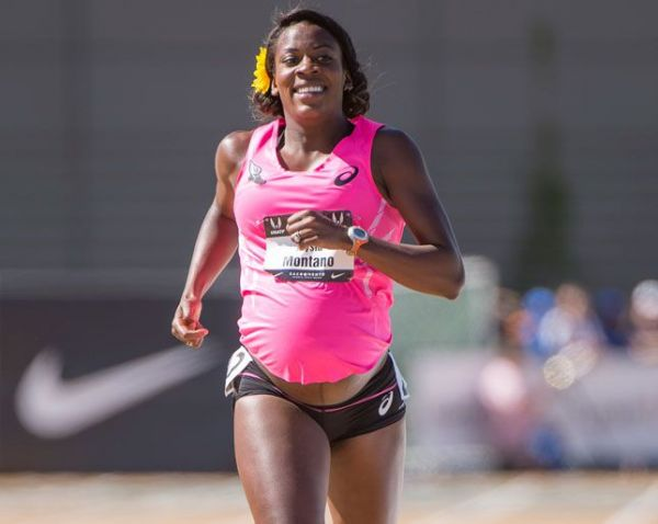 alysia montano racing while she's pregnant