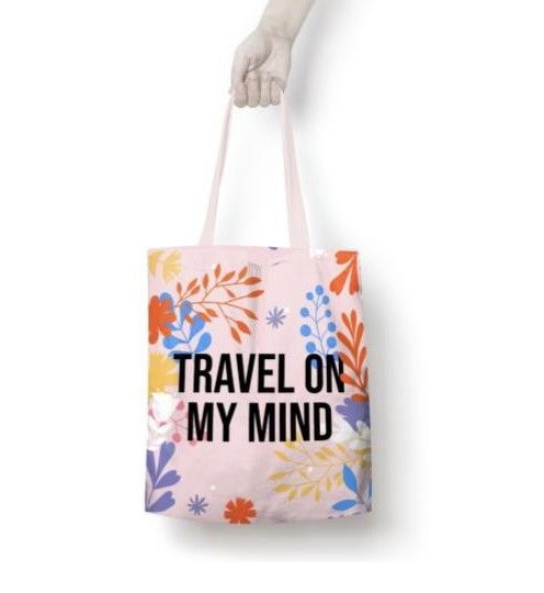travel on my mind tote
