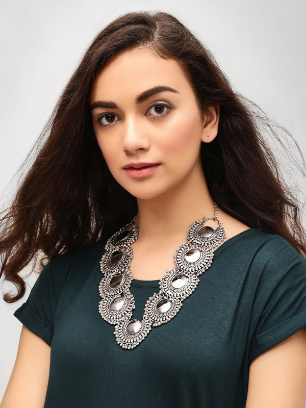 12 college - Antique Statement Necklace