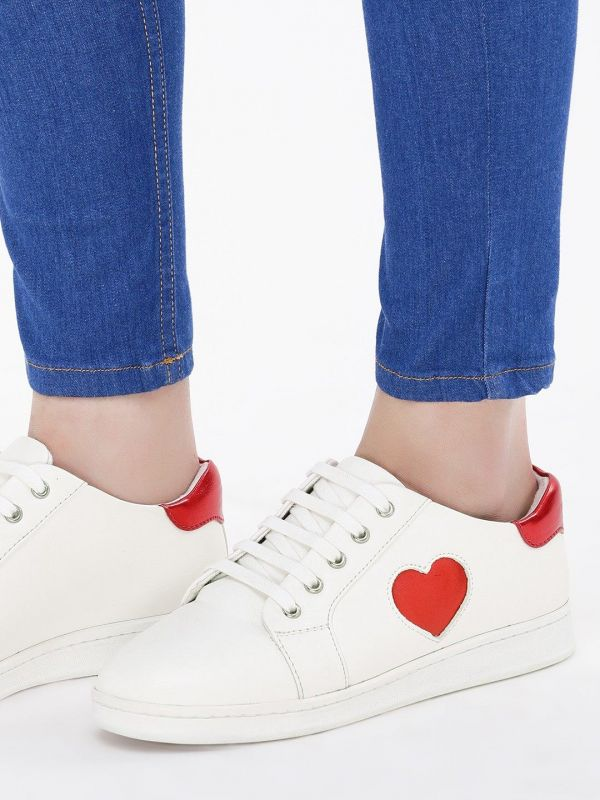 7 college - Heart Underlay Detail Sneakers