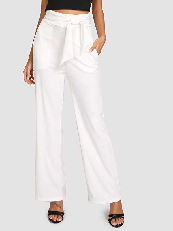 2.1 ananya panday - shein Self Tie Wide Leg Pants