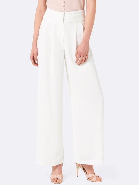 5 ananya panday - Forever New Women White Loose Fit Solid Parallel Trousers