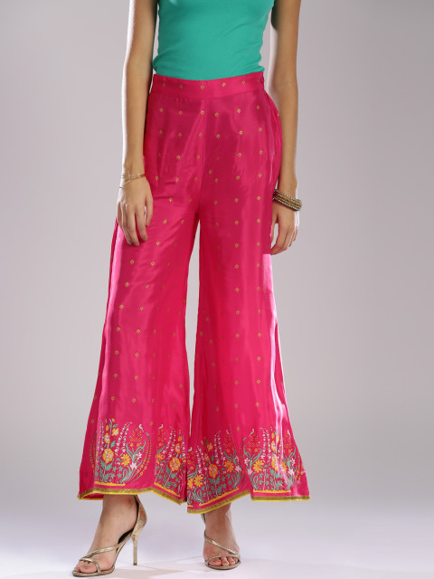 4 W palazzos pink indian pieces