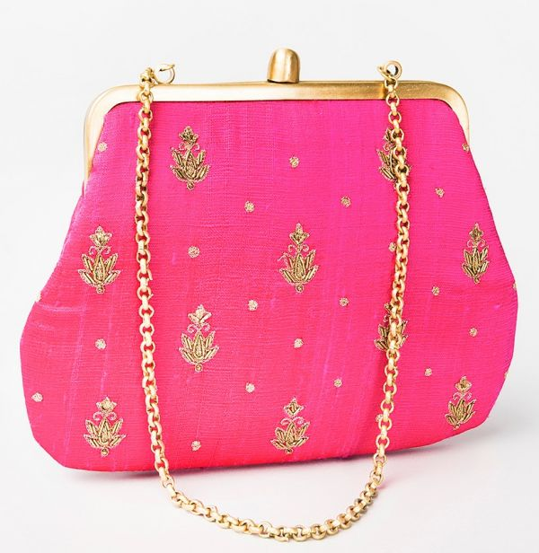 5 fabindia purse pink indian pieces.