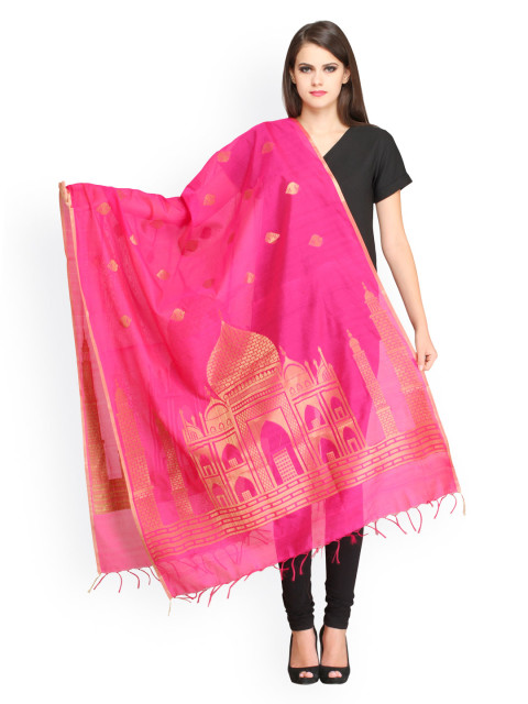 6 Aksara pink dupatta pink indian pieces
