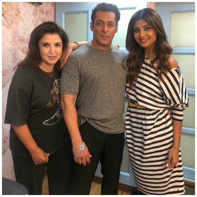 Salman Khan  Shilpa Shetty and Farah Khan