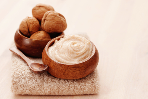 DIY  Body  Scrub  Face  Walnut Shell Powder  Exfoliation internal walnut powder