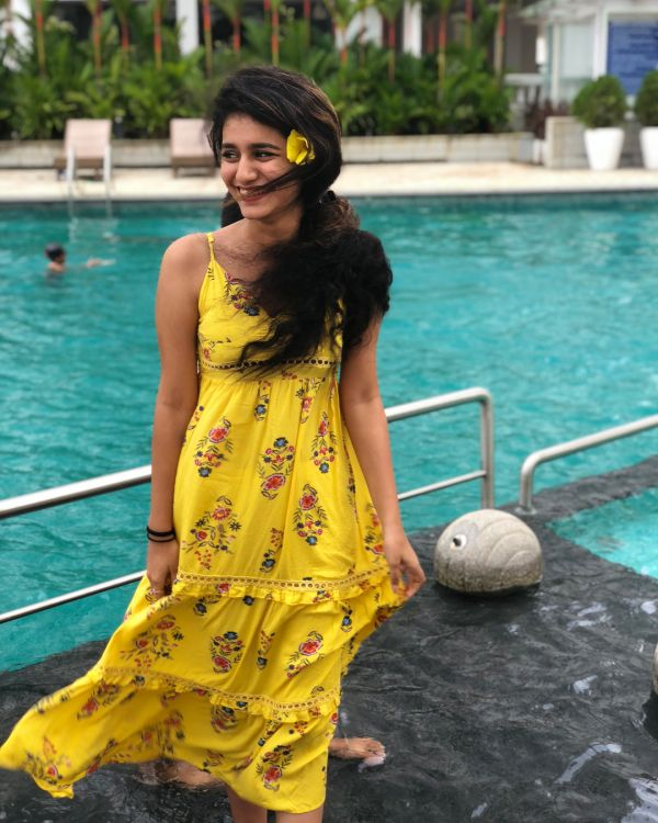 1 priya prakash varrier - yellow dress