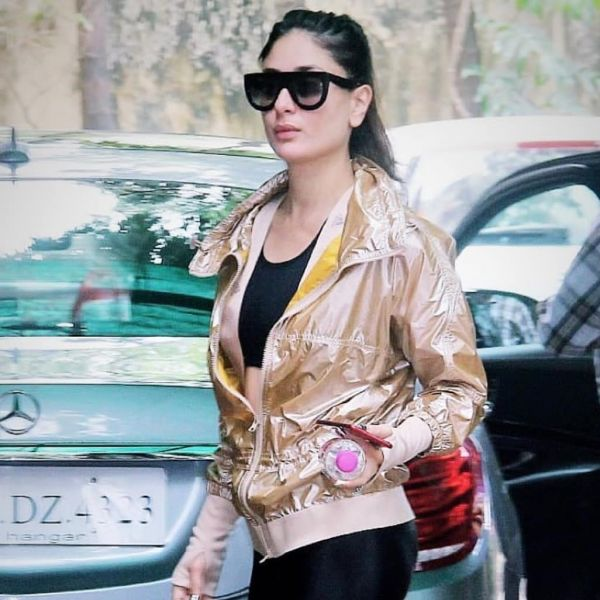 2 kareena kapoor khan - gym look in leather pants