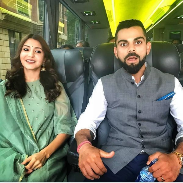 anushka green suit