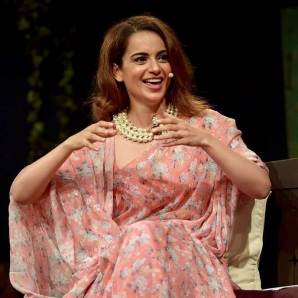 3 kangana ranaut - pink saree with pearl necklace