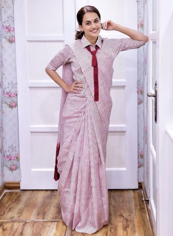 taapsee uniform saree 2