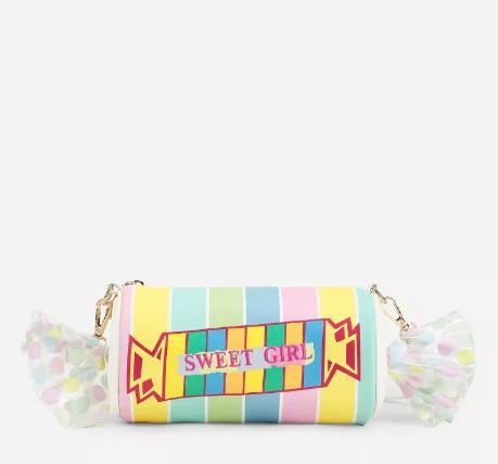 4 gifts - Candy Shaped Striped Crossbody Bag