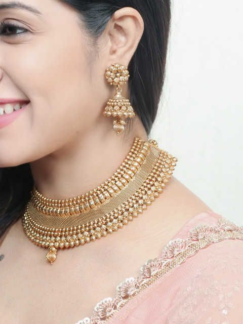 4 shraddha kapoor - Rubans Gold-Plated Handcrafted Jewellery Set
