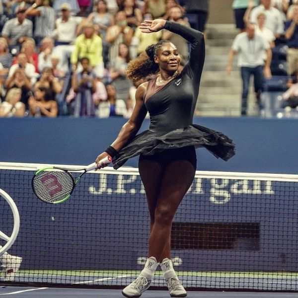 1 serena williams - black tulle skirt