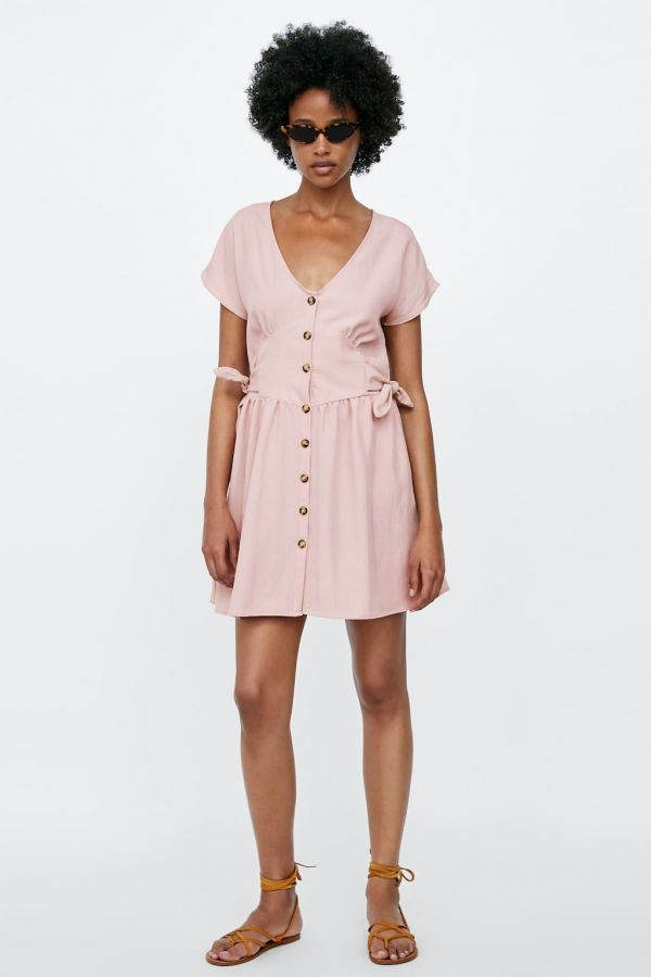 2 button dress stars vacay zara