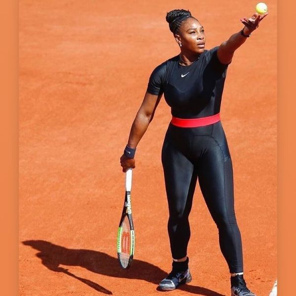 6 serena williams - black catsuit french open