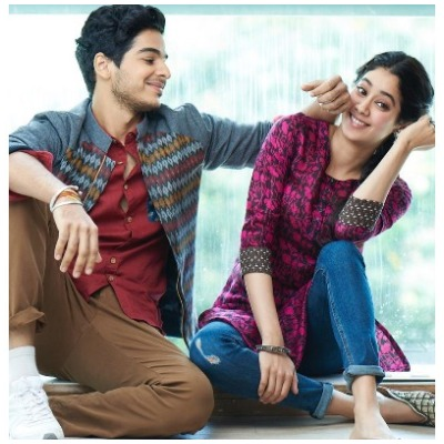 Janhvi Kapoor and Ishaan Khattar in Dhadak