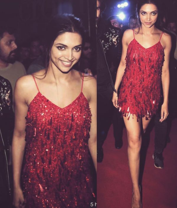 deepika vs beyonce red sequinned dress 1