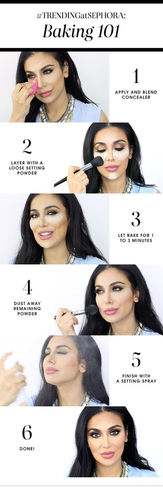 makeup chart how to bake makeup popxo