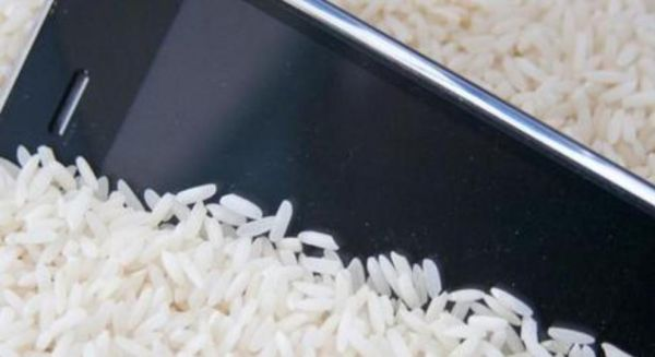 phone-in-rice