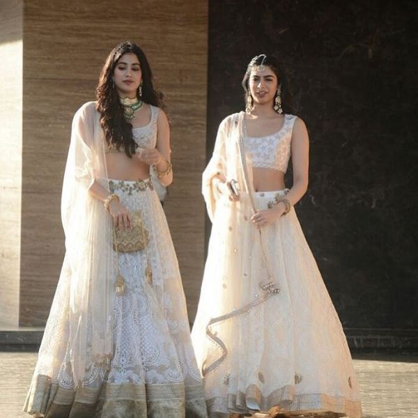 sonam's wedding janhvi and khushi kapoor twinning but different