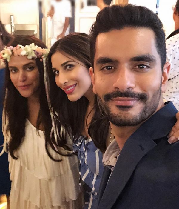 7 neha dhupia invited celebrity friends at her baby shower - neha dhupia at her baby shower withSophie Choudry