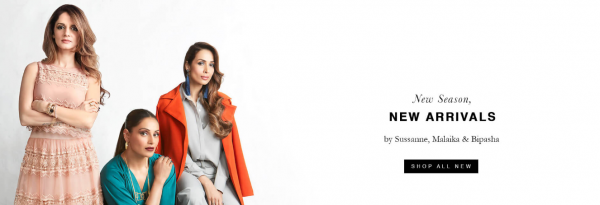 8. female celebrities with their own businesses - sussanne khan  malaika arora khan and bipasha basu for the label life