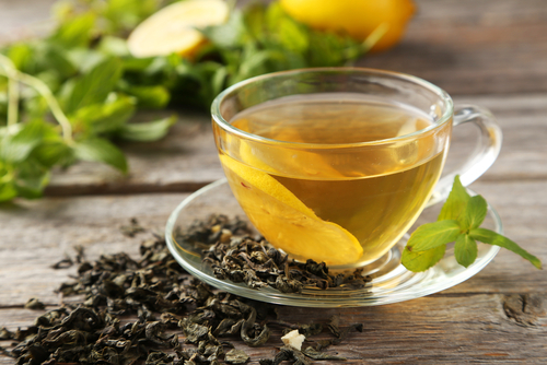 drink green tea to reduce breast size naturally