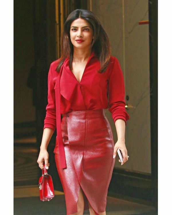 3-priyanka-chopra-red-shirt-red-skirt-red-bag