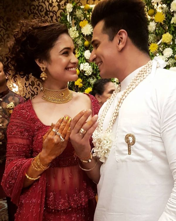 Yuvika Chaudhary and Prince Narula engagement ceremony