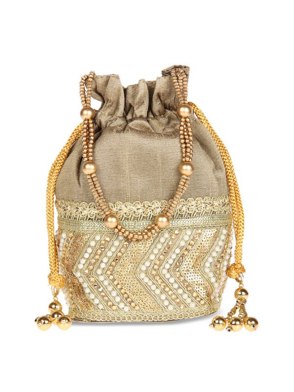 4-potli-bags-Gold-Toned-Embellished-Clutch