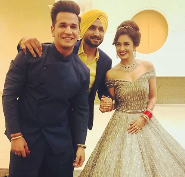 Harbhajan Singh At Yuvika Chaudhary and Prince Narulas Wedding Reception