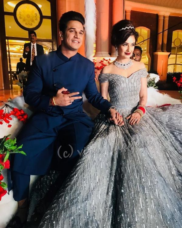 Prince Narula and Yuvika Chaudhary wedding reception