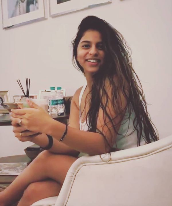 suhana khan morning face with no makeup
