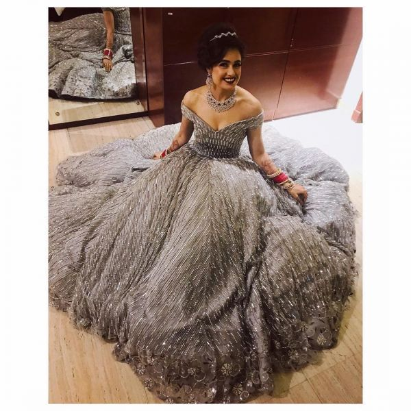 Yuvika Chaudhary reception gown