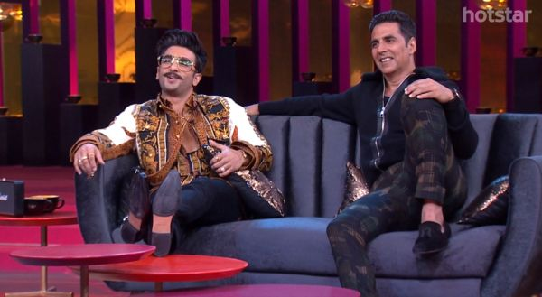 Koffee With Karan- Akshay And Ranveer Sitting