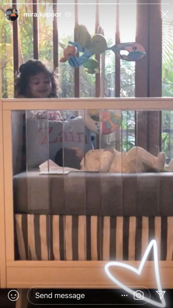Mira Rajput Shares Picture Of Daughter Misha Looking At Baby Zain   We're Dying Of The Cuteness