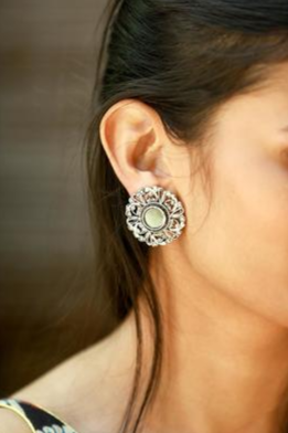 18-jewellery-design-SILVER-PLATED-MIRROR-WORK-EARRING