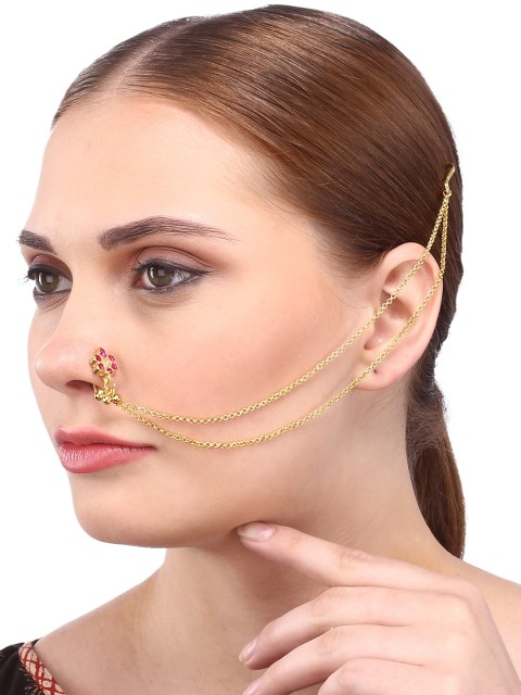 35-Jewellery-design-Gold-Polished-Nose-Pin-with-CZ-Stones